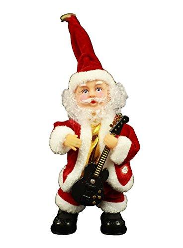 Haac - babbo natale che canta e balla con la chitarra, 29 cm, per natale