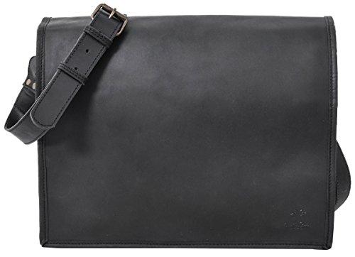 Gusti Borsa per laptop 15 Leder studio Mitch interno impermeabile borsa business documenti borsa a spalla università lavoro unisex nera 2U4-26-80