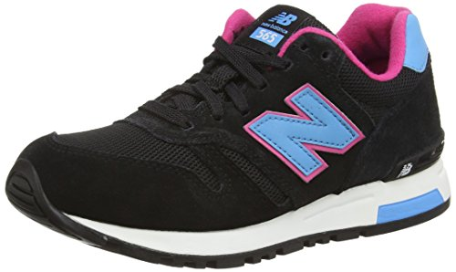 New Balance WL565 B - Zapatilla Deportiva de Piel Mujer, Color Negro, Talla 37.5
