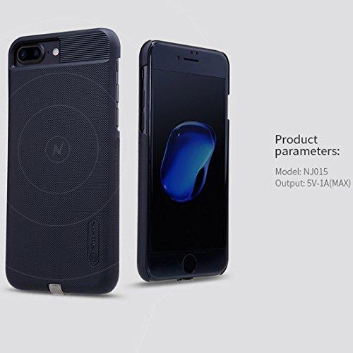 Mobiltelefonhülle - NILLKIN 2 in 1 Magic Case für iPhone 7 Plus Anti-Rutsch-PC Schutzhülle mit QI Standard Wireless Ladegerät ( Farbe : Gold ) Gold