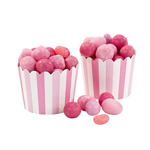 Talking Tables Mix und Match; Kuchenkörbchen für Backtage, Geburtstage, Teekränzchen, Hochzeiten und Partys, Pink, 250 ml (20 pro Pack)