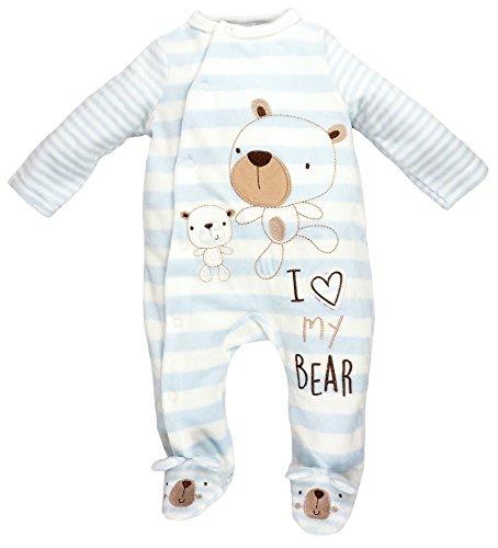 Rock a Bye Baby - Baby Strampler Schlafanzug aus Nicki Bär Gr. 62/68 (3/6M)
