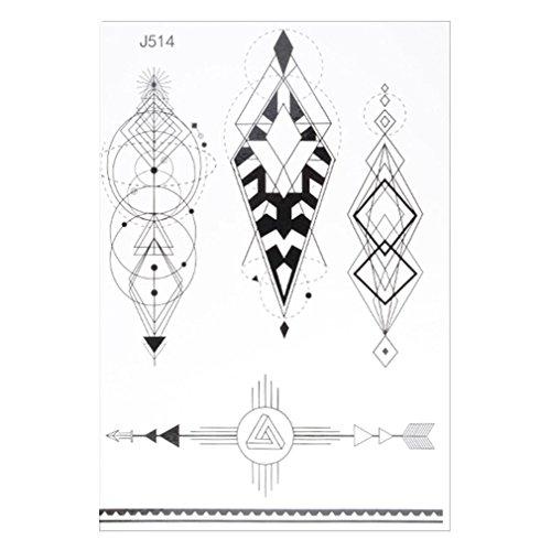 TemporäRe Tattoos Aufkleber, QinMM KöRper Kunst Make-Up Wasserdicht Abnehmbar Mode Menschen Und Tiere Tattoo Aufkleber (M)