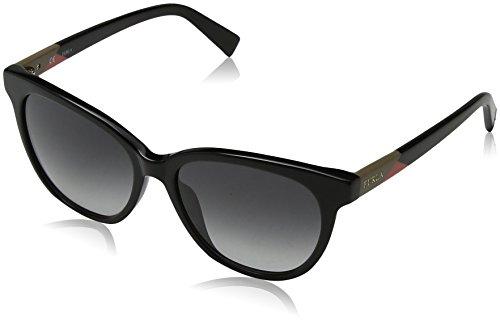 Furla eyewear, occhiali da sole donna, nero (shiny black), 54