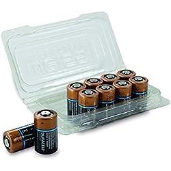 Duracell CR17355 Lot de 10 Piles Lithium CR 2 Noir/cuivre