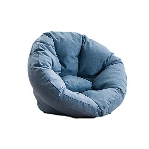 Lucky Big Head YY Lazy Couch Sitzsack, Schlafzimmer Single Lounge Chair, 2 Laken Können Zu Einem Sofakissen Zusammengebaut Werden, Stoff Atmungsaktiv 70 * 103 * 10 * 50CM,G,S