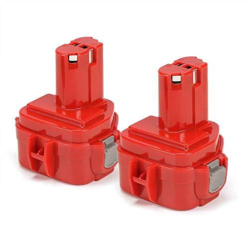 POWERGIANT 2PCS 12V 3000mAh NiMH Batteria per Makita PA12 1220 1222 1234 1235 6270D 6271D 6227D 6095D 8270D 8271D