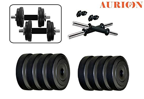 Aurion-16-Kg-Dumbbell-Set-Combo-Offer-Black