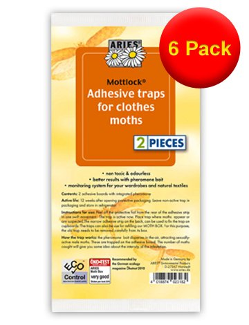 VALUE PACK 6x Twin Pack - Replacement Strips - Refills for Mottlock Moth Boxes from Aries 12 Strips in Total