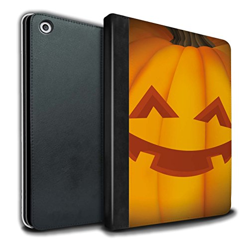 �lle/Case/Brieftasche für Apple iPad 9.7 (2017) Tablet/Glücklich Muster/Halloween Kürbis Kollektion ()