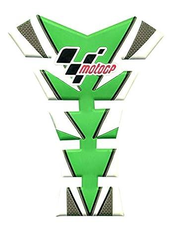 Grün-Weiß-3D Fiber Gas Racing Motorrad-Tankschutz-Pad Rubber Aufkleber Aufkleber für KAWASAKI Zephyr 750 1991 1992 1993 1994 1995 1996 1997