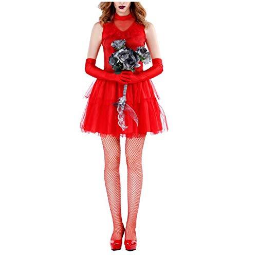 WTAI AI Frauen Adult Red Unterwelt Ghost Bride Stage Dress Ostern Performance Kostüm Tutu Halloween-Kostüm (Color : Red, Size : - Ghost Piraten Adult Kostüm