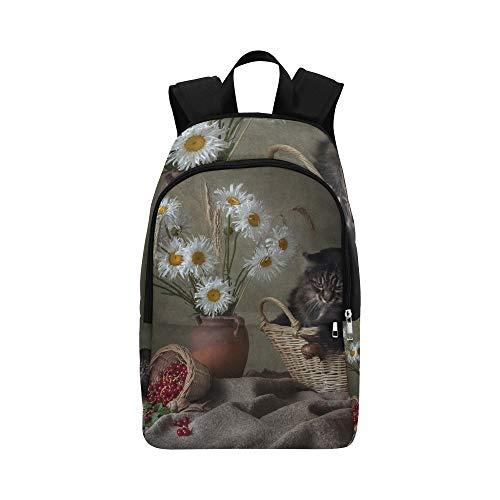 Katzen in Blumentöpfen lässig Daypack Reisetasche College School Rucksack für Herren und Frauen