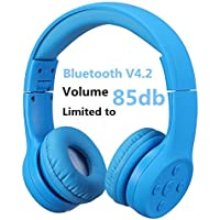 Hisonic Auriculares Bluetooth Compatible con Todos Dispositivos Bluetooth (Azul 01)