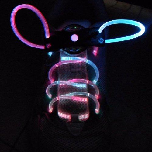 Weiva LED Schuhband Schnürsenkel pink blau (Bis Led-licht Schnürsenkel)