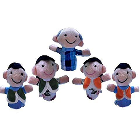 FAMILIZO 13 Pcs dedo Incluso Cuentacuentos buenos juguetes marioneta de mano para el regalo del bebé