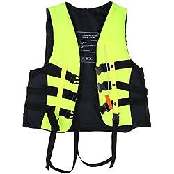 Alomejor Gilet de Sauvetage Enfant Veste Gilet avec Sifflet Gilet de Sécurité Natation Aid Snorkeling Gilet Flottabilité Gilet pour Snorkeling, Plongée Libre, Natation Veste De Pêche