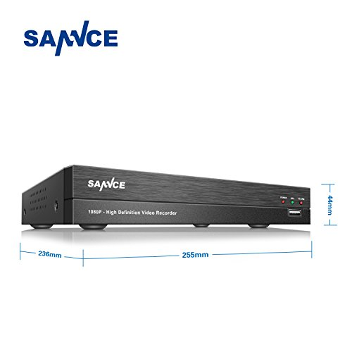 SANNCE-HD-1080P-DVR-con-4-Canales-H264-Soporta-Disco-Duro-hasta-4TB-CCTV-DVR-Video-Vigilancia-de-Seguridad-para-Negocio-y-Hogar-Negro