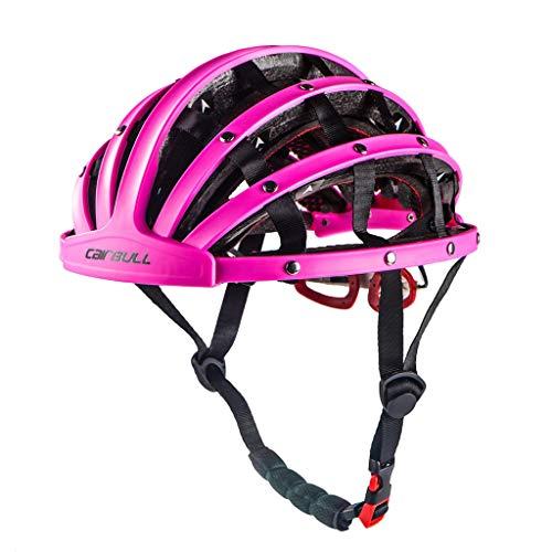 Fahrrad Herren Beleuchtung Damen Fahrrad Fahrrad Fahrrad Herren Kinder Fahrradfahrradhelm Jungen Helm,Faltbarer Fahrradhelm Bike Folding Ultralight Unisex Fahrradhelm...