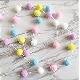 SZETOSY Pom Poms Girlanden - GOODCHANCEUK 2 x Filz Ball String 2M hängende Ornamente handgemachte Pom Pom Dekoration für Kind