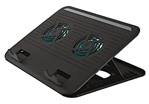 Trust Cyclone Refroidisseur USB pour Ordinateur Portable Jusqu'au 16 pouces - Deux Ventilateurs