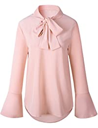 separation shoes e2a24 d0f05 Amazon.it: camicia fiocco - L / Donna: Abbigliamento