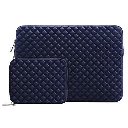 MOSISO Notebook-Tasche Diamant-Schaum Wasser abstoßende Neopren-Tasche 11,6-12,3 Inch Navy blau