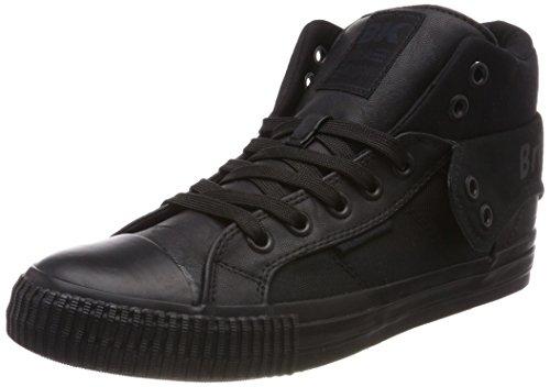 British Knights Roco, Baskets Hautes Homme Schwarz (Black/Black)