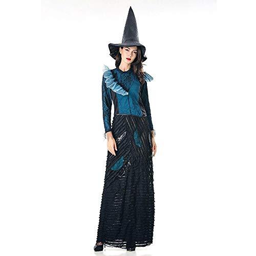 (Shisky Cosplay kostüm Damen, Halloween-Party Kostüm Rollenspiel Spider Hexenkostüm Bühne Leistung)