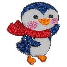 c89735ef92 Unbekannt Pinguin 4,6 cm * 5,5 cm Bügelbild Aufnäher Applikation Pinguine  rot