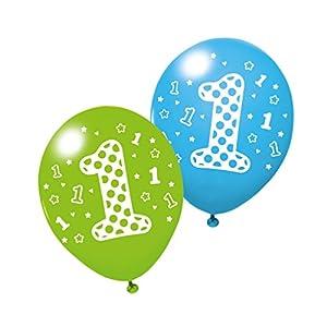 SUSY CARD Globos Primer cumpleaños, para niño, 3 Unidades.