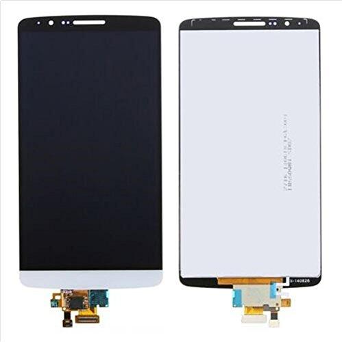 for jiujinyi LG G3 D850 D851 D855 VS985 para LCD Pantalla Táctil de Digitalización Asamblea Pantalla de Recambio (Blanco)