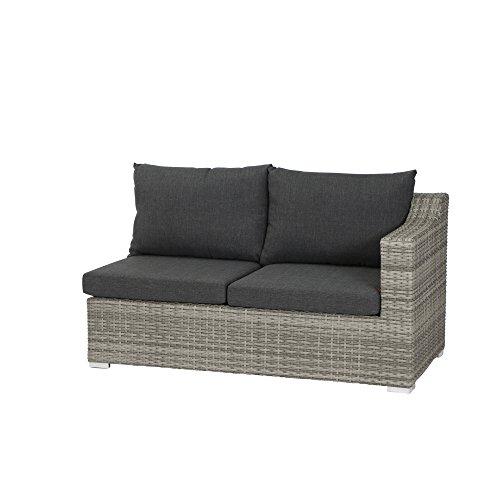 Siena Garden 508499 Navaro 2er Sofa, Modul Armlehne rechts, Sigra, 149x81x77 cm