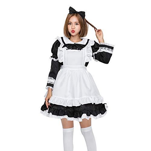 Blau Eltern-Kind-Kleid Kleidung Maid Halloween Cosplay Kostüme Sweet Lovely Kostüm-Sets Kits Schürze Größe