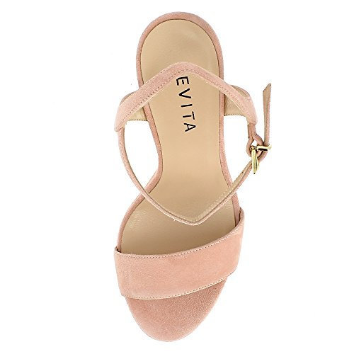STEFANIA sandales femme daim Rose