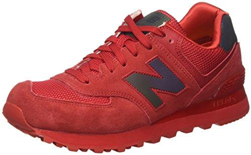 New Balance 574, Scarpe da Ginnastica Basse Donna, Rosso (Red), 37 EU