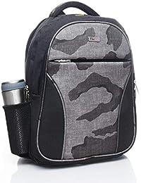 FLYIT Black Grey Spacious Comfort Casual Backpack School bagpack