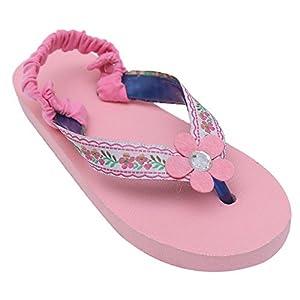 D'chica Fancy Rubber Pink Gypsy Flip Flops For Girls