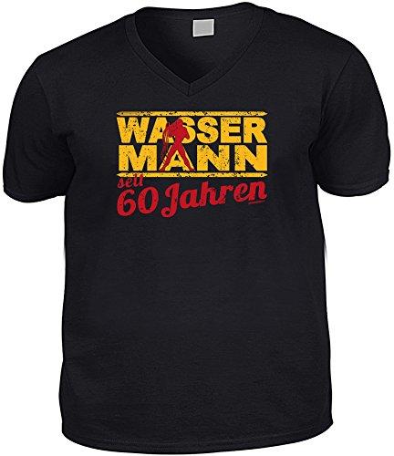 Cooles V-Neck - T-Shirt als Geschenk zum 62. Geburtstag - Goodman Design® Gr: Farbe: schwarz Schwarz