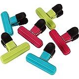 Hokipo Plastic Bag Clips, Multicolour (Set Of 6)