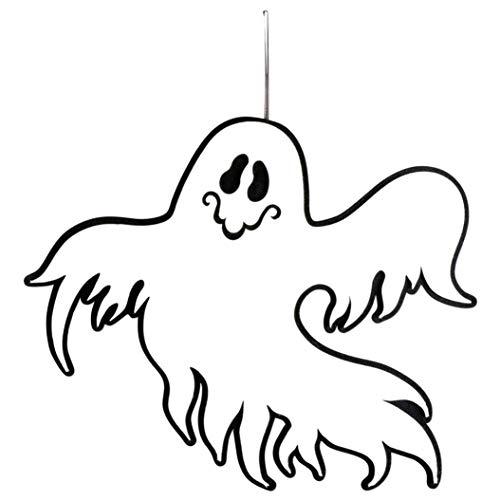 Mitlfuny Deko Figur Horror Skelett Gerippe Halloween HäNge Schocker Halloween HäNge Deko Swirls Dekoration FüR Halloween Party (C)