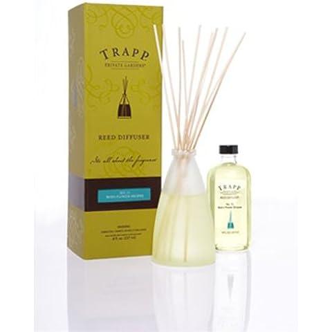 Limón Verbena no 10–Kit de lujo Reed difusor en caja de regalo–Trapp velas