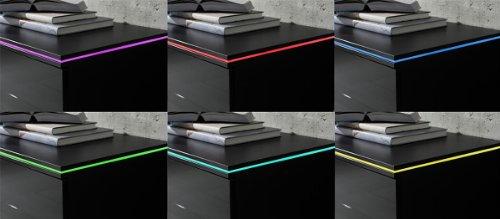 Wohnwand NEW York Anbauwand Weiß, Fronten Hochglanz, optional LED-Beleuchtung, Beleuchtung:mit Beleuchtung - 2