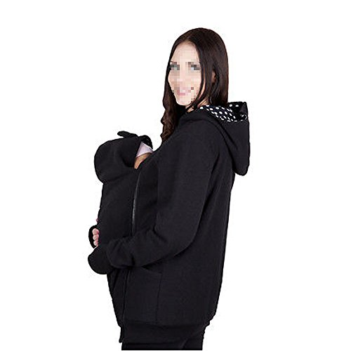 CRAVOG Damen Babyträger Känguru Mantel Jacke Erwärmen MOM und BABY babywearing fleece Winter Warme Jacken