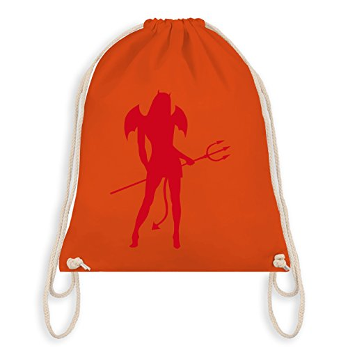 Halloween - Sexy Teuflin - Unisize - Orange - WM110 - Angesagter Turnbeutel / Gym Bag