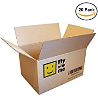 Pack de 20 Cajas de Cartón Marrón/Canal Simple de Alta Calidad Reforzado/Dimensiones