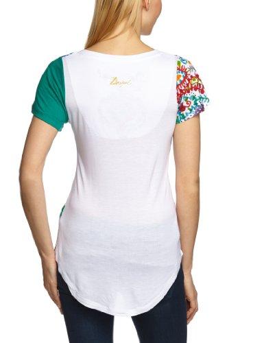 Desigual - Haut - Manches 1/2 - Femme Blanc (Blanco 1000)