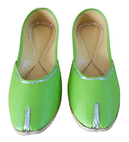 Tradicionais Bailarinas Couro Senhoras Verde Criações De Indianas Kalra xYq6wBXzFn