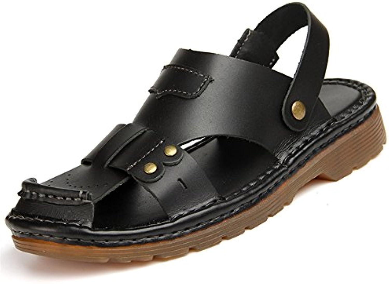 Sandalias De Los Hombres De Verano Al Aire Libre Slip Transpirable Cómodos Zapatos De Playa (24.5-27.0) CM