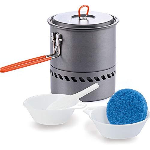 Tragbare Camping Picknick-Pot Outdoor-Kochgeräte Falten Handle-Leichtheit-Heizung schnelle Adsorption Dauer und härter Einsatz von Wärme Energieeffizienz effizient